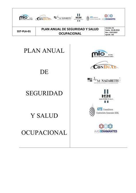 00. SST PLA 01 PLAN ANUAL DE SEGURIDAD Y SALUD OCUPACIONAL
