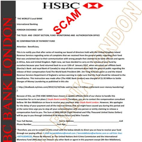 00000000HSBCPAYOUT00003   Free E Mail Scam Alert
