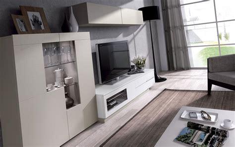 000017   Salon Moderno Lacado Blanco y Cristal, conoce ...