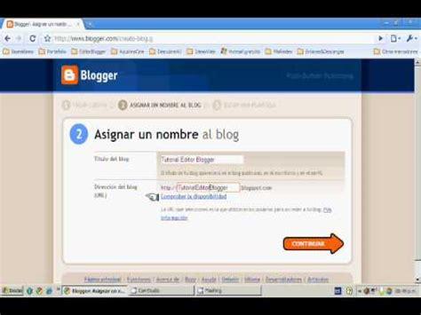 001  ¿Cómo Crear un Blog en Blogger? En Español   YouTube