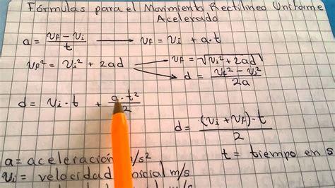 007 fórmulas del MRUA y aclaraciones   YouTube