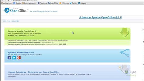 02 Descargar e instalar Apache OpenOffice 4.0   YouTube