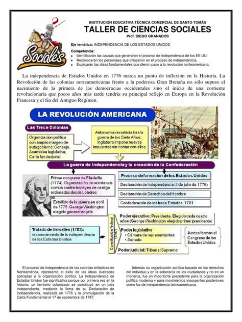 04 INDEPENDENCIA DE ESTADOS UNIDOS   8º.docx | Declaración ...