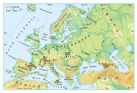 1_2.RELIEVE: MAPA FÍSICO EUROPA