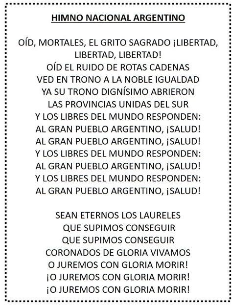 """1º de mayo – Proyecto Cancionero: """"Himno Nacional ..."""