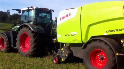 1. Einsatz CLAAS ROLLANT 455 UNIWRAP bei  ems agro  Thun ...