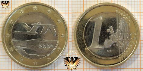 1 Euro, Finnland, 2000, nominal, Singschwäne