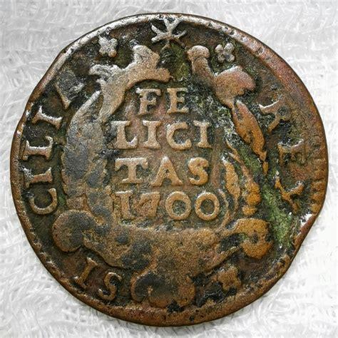 1 Grano Carlos II   El Hechizado . Nápoles año 1700