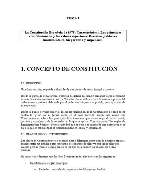 1 La Constitución Española de 1978 [Características. Los ...