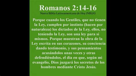 1 versículo al minuto Romanos 2:14 16   YouTube