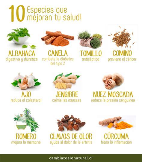10 especies que mejoran tu salud   Cámbiate a lo Natural