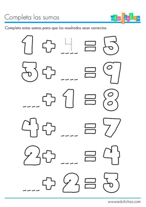 10 fichas infantiles para aprender a sumar. Fichas educativas.