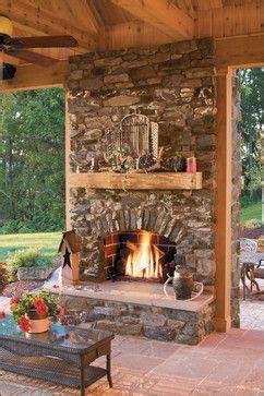 10 Fireplace Ideas | DIY Home Decor | Rustic outdoor ...