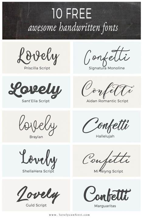 10 free awesome handwritten fonts   LovelyConfetti