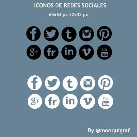 10 #iconos #redessociales con fondo transparente   Domestika