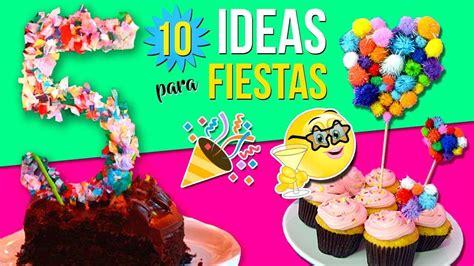 10 IDEAS para FIESTAS INFANTILES * Decoraciones FÁCILES ...
