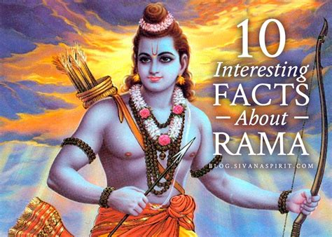 10 Interesting Facts About Rama
