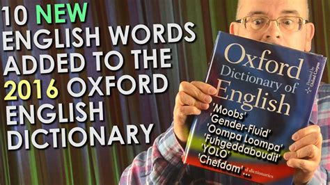 10 New English Language Words 2016   Added to the Oxford ...
