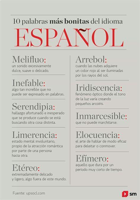 10 palabras más bonitas del idioma español : Spanish