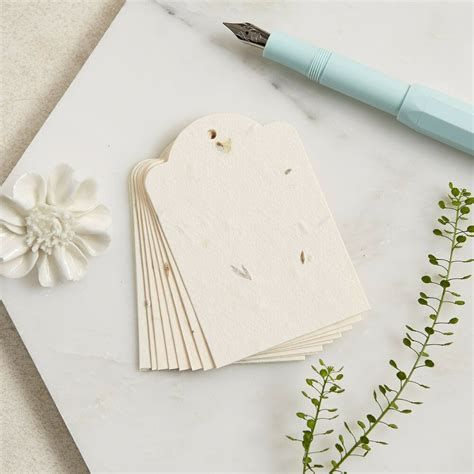 10 Plantable Wildflower Seed Paper Gift Tags   Wishing ...