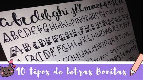 10 tipos de Letras BONITAS!   YouTube
