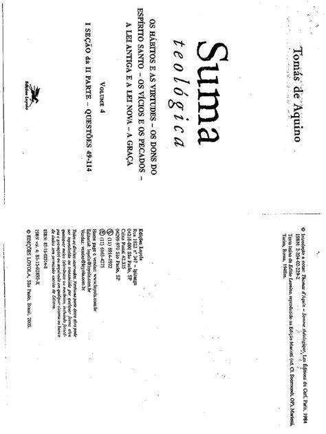 10. TomAs de Aquino. Suma Teologica.