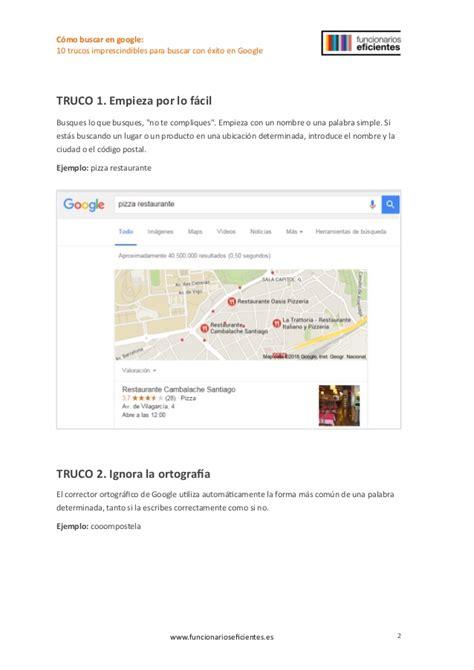 10 trucos básicos para buscar con éxito en google