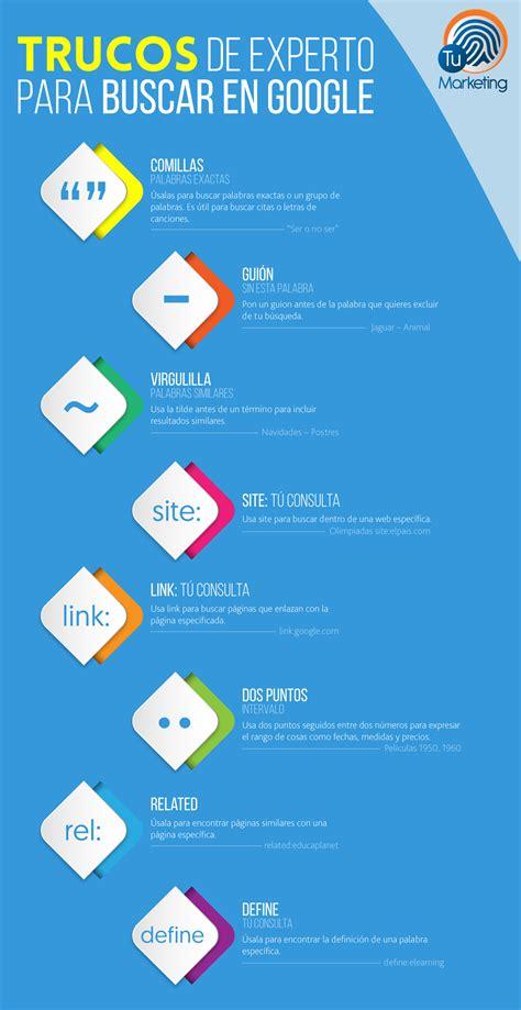 10 trucos de experto para buscar en Google #infografia # ...