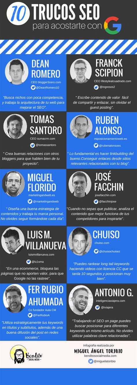 10 trucos SEO para acostarse con Google #infografia # ...