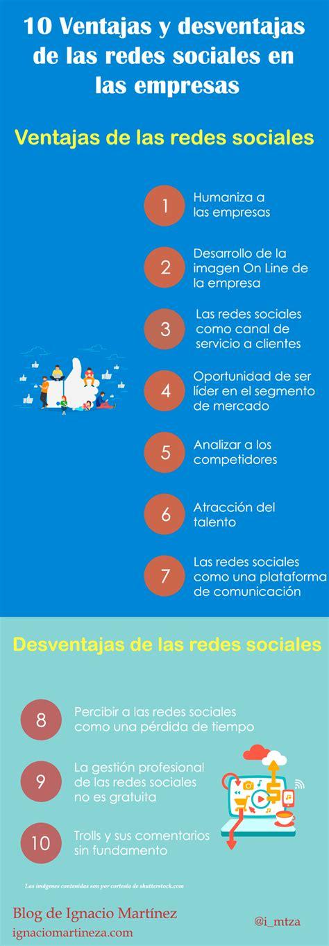 10 Ventajas y desventajas de las redes sociales en las ...