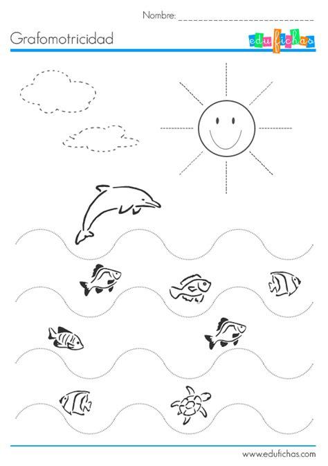 10 worksheets de grafomotricidad. Ficha educativa infantil ...