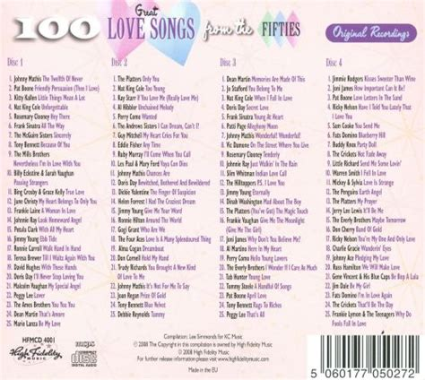 100 Great Love Songs of the Fifties   Various Artists ...