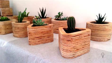 +100 ideas de maceteros de madera que puedes hacer tu ...