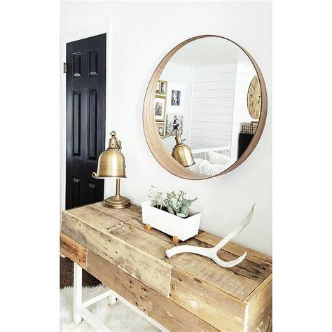 $100 modern round mirror   ikea @katie_blythe_designs ...
