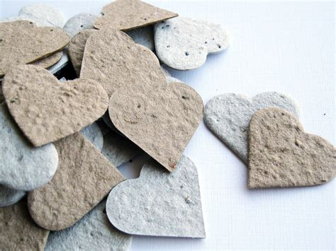 100 Plantable Seed Paper Confetti Hearts Recycled Grocery