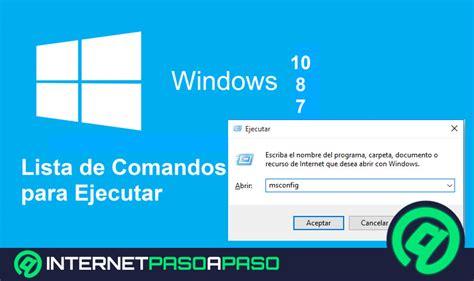 1000 COMANDOS para Ejecutar en Windows 10   8   7 】Lista 2019