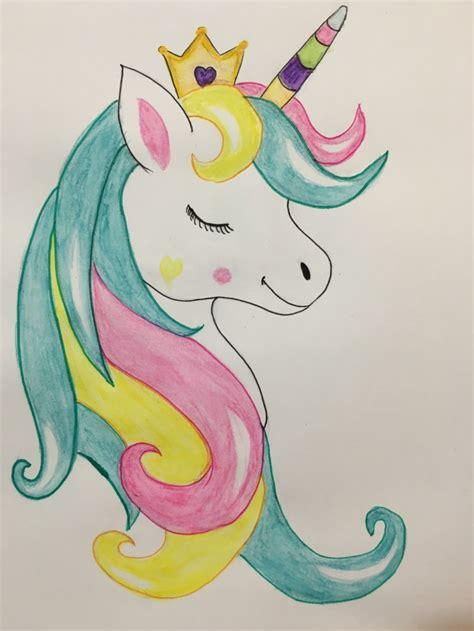 1001 + ideas de dibujos de unicornios bonitos y fáciles
