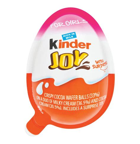 10x Kinder JOY Surprise Eggs for GIRL,Chocolate Toy Inside ...