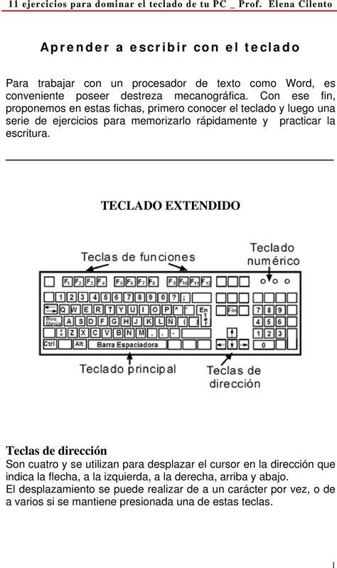 11 ejercicios para dominar el teclado de tu PC _ Prof ...