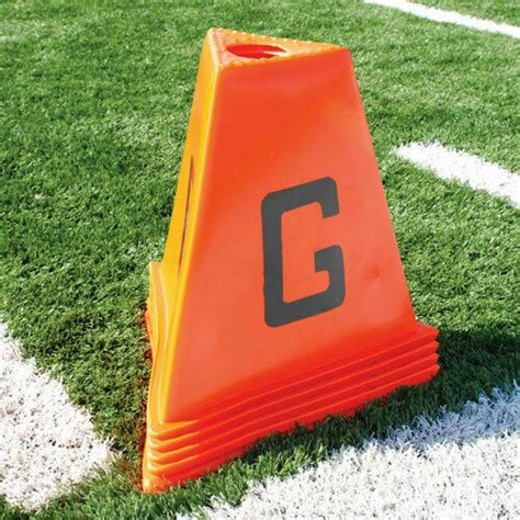 11 PC Football Sideline Markers in Pyramid Shapes ID 22814 ...