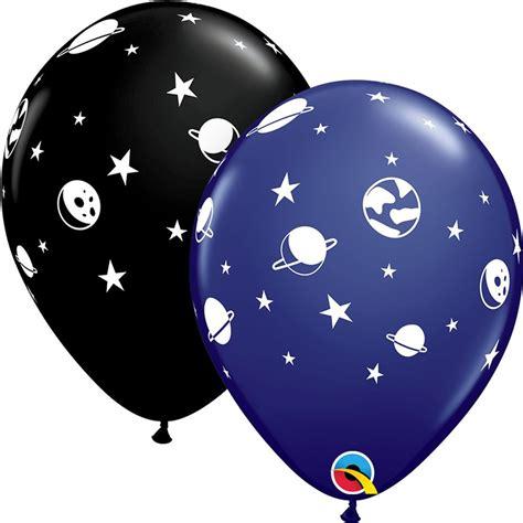 11  Printed Latex Balloons, Celestial Fun, Qualatex 89443 ...