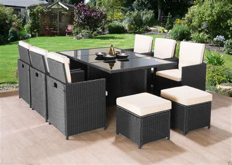 11PC Cube Rattan Garden Furniture   Luxury Garden ...