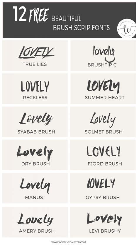 12 beautiful free brush script fonts   Lovely Confetti