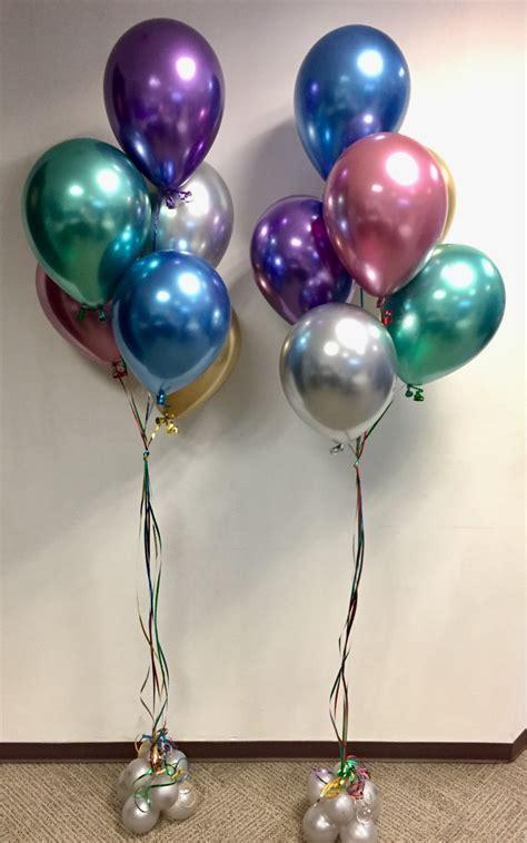 12 Globos Chrome Colores Surtidos Qualatex Año Nuevo ...