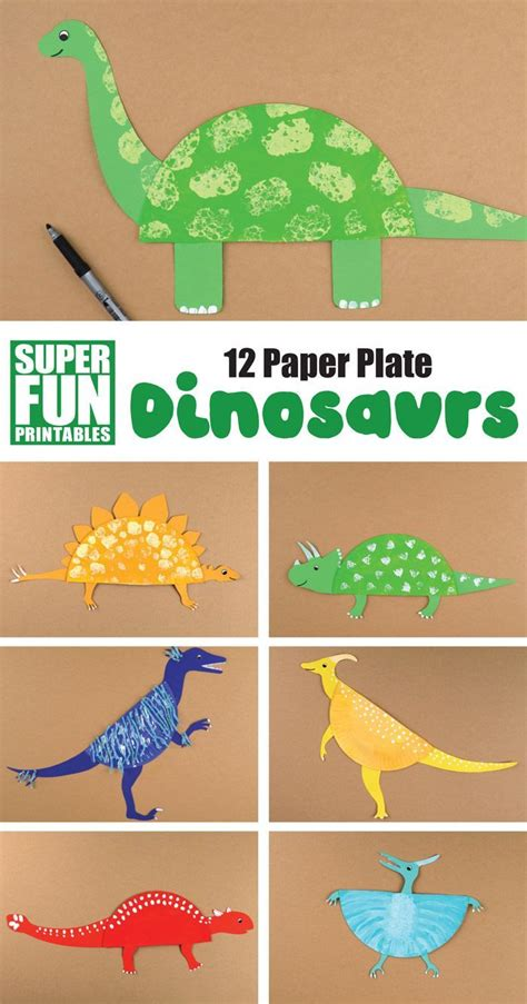 12 paper plate dinosaur crafts for kids | The Craft Train ...