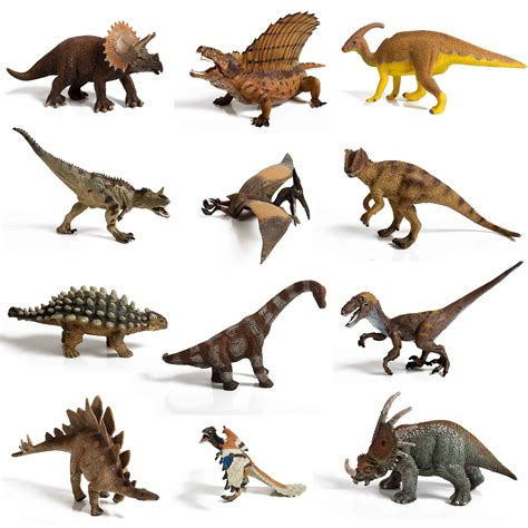 12 piece Large Assorted Dinosaurs highly detailed ...