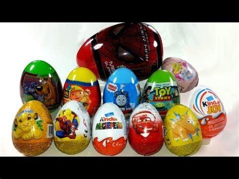 12 Surprise Eggs Unboxing Kinder Surprise, Cars, Kinder ...