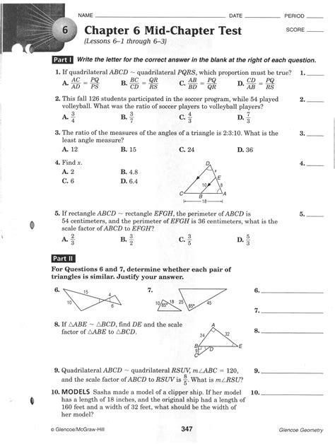 13 Best Images of Glencoe Algebra 2 2001 Practice ...