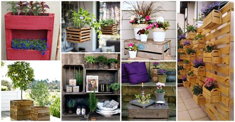 13+ Fantásticas Ideas para Decorar tu Jardín con Cajas ...