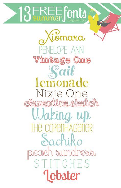 13 free summer fonts
